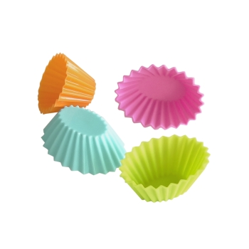 Lot de 12 caissettes en silicone ovales couleurs vives assorties - YouCook