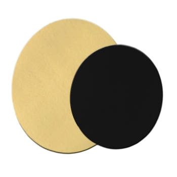 Rond uni Or fort 1050g double face Or/Noir