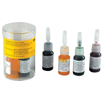 Set de 4 colorants liquides alimentaires