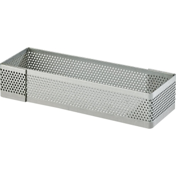 Rectangle en  inox perforé